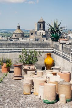 Grottaglie from the terrace of Mimmo Vestita Ceramics All photos Copyright Carla Coulson Imagine a town that has survived for hundreds of years on making