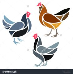 vector chickens