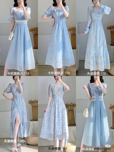 Simple Girl Outfits, Cute Casual Outfits, Pretty Outfits, Pretty Dresses, Casual Dresses, Korean Fashion Dress, Kpop Fashion Outfits, Cute Fashion, Fashion Dresses