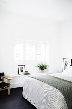 Lastest Home Design. Getting Bored With Your Home? Use These Interior Planning Ideas. Many people want to update their homes, but are unsure of where to start. There are many simple ways to learn about decorating your space. White Wall Bedroom, Cozy Bedroom, White Walls, Bedroom Decor, Bedroom Ideas, Serene Bedroom, Clean Bedroom, Wall Decor, Master Bedroom