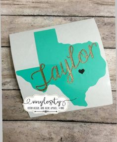 Buy yours today! Great quality and prices! Texas Personalized Decal Texas Yeti Decal Texas by VinylosityCo Yeti Stickers, Yeti Decals, Car Decals, Vinyl Decals, Vintage Car Bedroom, Painted Trunk, Car Accessories For Girls, Silhouette Projects, Silhouette Cameo