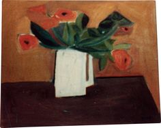 William Scott, [White Jug with Flowers], 1947 or 1948, Oil on canvas, Dimensions unknown, Whereabouts unknown