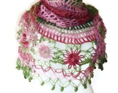 PLEASE NOTE THAT ~ SPECIAL SALE for Christmas and January 2017   This product was $85  New price is $70    ** This product will be sent via EXPRESS SHIPPING....This item is currently taking 5 business days to ship.    SHIP IMMEDIATELY    ONLY HANDWASH!!!    Looks good over a dress or jeans.  In winter you can wind it around your neck as a cowl or scarf and drape it over your head as a scarf.  This shawl is one of my most popular designs.You will get many compliments by wearing it  If you…
