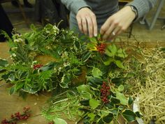 A traditional Christmas wreath with holly and berries.  http://www.belhavenfruitfarm.co.uk/the-store.aspx