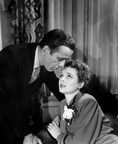 "Humphrey Bogart and Mary Astor in John Huston's ""The Maltese Falcon"" 1941"