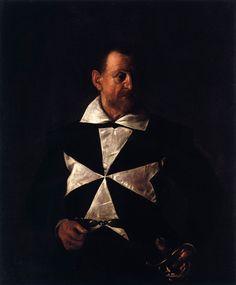 Caravaggio - Portrait of fra' Antonio Martelli, knight of Malta