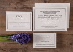 Letterpress wedding invitations by Paper Elephant www.paperelephant.com.au #letterpress #wedding #invitations