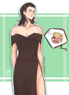 "laizy-boy: """"Ya'll Loki in a dress boi!! *Points at @lovethedanielhd * You made us do this in the easy way~ yet… X'3c "" """