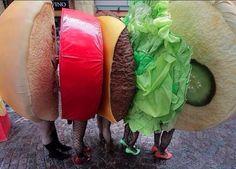 4 Gruppen Burger | Kostüm-Idee für Gruppen zu Karneval, Halloween & Fasching