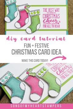 Who loves the movie Elf? This fun  festive Christmas card idea is inspired by the movie, and is super easy to make! Find out how with my DIY card tutorial!