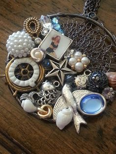 Shipmate jewelry collage necklace pendant - www.handcraftedmemoriessandiego.com