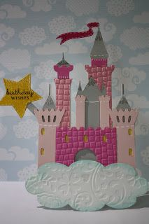 redheaded crafter: Princess Castle Birthday Card