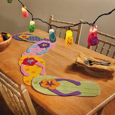 Set A Tropical Table - TerrysVillage.com