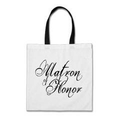 Naughy Grunge Script - Matron Of Honor Black Canvas Bag