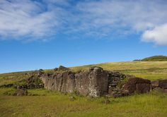 Stone Wall In Vinapu Site, Easter Island, Chile | by Eric Lafforgue