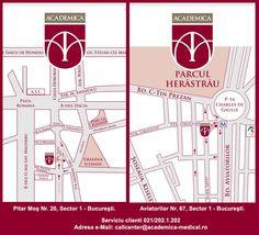 Centrul Medical Academica oferă servicii medicale integrate clinice şi paraclinice, respectiv consultaţii în ambulatoriu pentru toate specialităţile clinice, intervenţii chirurgicale, analize de laborator şi investigaţii de imagistică medicală.    Program:  Luni-Vineri: 8.00 - 21.00  Sâmbătă: 9.00 - 15.00    http://www.academica-medical.ro/contact