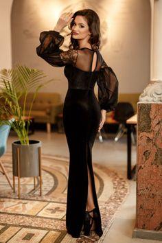Rochie Catalyna Neagra 349 lei Rochie eleganta neagra
