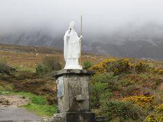 Statue of Saint Patrick at Croagh Patrick, near Westport, County Mayo, Ireland