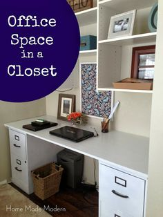 Home Made Modern: Desk in a Closet