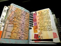 Teesha Moore...made from an old passport......   MANY more pics on her blog