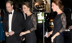 Kate meets the OTHER Harry: Duchess of Cambridge looks the picture of health as she and William (and the merest hint of a baby bump) meet One Direction at the Royal Variety Performance