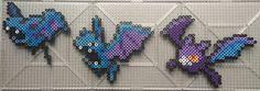 #041-#042,#169 Zubat Family - Pokemon perler beads by TehMorrison