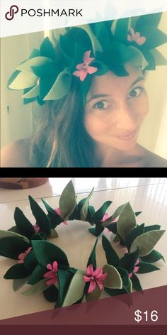 Moana Floral Crown Handmade Moana inspired Floral crown! Check out my Etsy shop --> etsy.com/shop/heartfeltfromhawaii heartfeltfromhawaii Accessories Hair Accessories