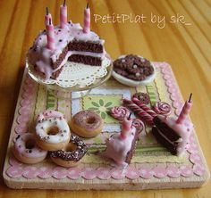 Miniature Food and My Birthday Cake by PetitPlat - Stephanie Kilgast, via Flickr