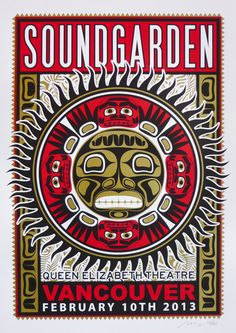 Soundgarden~ classic heavy metal psychedelic  rock music poster  ☮~ღ~*~*✿⊱  レ o √ 乇 !! ~