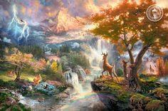 """Bambi's First Year"" by Thomas Kinkade"