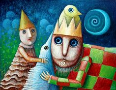 Magical Friends II by FrodoK on DeviantArt Dynamic Painting, Whimsical Art, Surrealism, My Arts, Wall Art, Friends, Gallery, Artwork, Artist