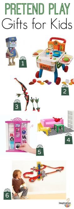Gifts to spark imagination and pretend play! (I love #2! My kids really want #5!)