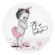 Vintage Baby Shower Invitations Girl Elegant Vintage Pink and Gray Baby Girl Shower Invitation Baby Shower Party Favors, Baby Shower Invites For Girl, Girl Shower, Baby Shower Parties, Baby Shower Themes, Baby Shower Invitations, Baby Favors, Cute Little Baby, Mom And Baby