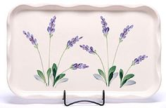Lavender Frilly Serving Tray - Made in the USA