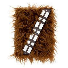 This Fuzzy Chewbacca-Themed Journal Growls When You Open It Nerdist Chris Hardwick uses this for his podcast guest book!