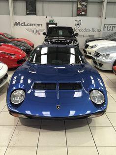 Blue Lamborghini Miura