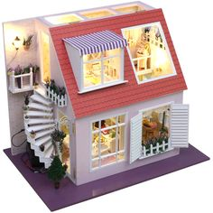 Diy mini handmade assembling model doll house gift-inCrafts from Home  Garden on Aliexpress.com $143.54