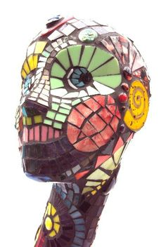 Adalyn  Glass Mosaic  Sculpture  Fine Art  by LadyCaroleCreations, $520.00