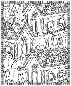 Christmas Designs Coloring Page - (doverpublications) | Christmas ...