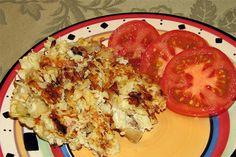 Cauliflower Hash Browns - minus the parmesan