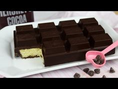 Chocolate bar on the outside while cake on the inside! Have you ever tasted a chocolate bar that tasted like a cake? In making a chocolate bar cake, … Cupcake Recipes, Cupcake Cakes, Dessert Recipes, Cupcakes, Cake Bars, Chocolate Bar Cakes, Giant Chocolate, Raspberry Chocolate, Delicious Chocolate