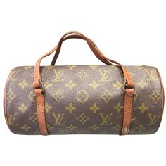 Pre-owned Brown Louis Vuitton Papillon Satchel ($200) ❤ liked on Polyvore featuring bags, handbags, brown, handbag satchel, satchel style handbags, brown bag, pre owned handbag and satchel purses