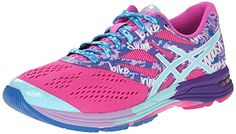 ASICS Womens GelNoosa TRI 10 Running Shoe Pink GlowAqua SplashFuchsia 8 M US *** Click image to review more details.