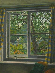 Charles Ginner - Through a Cottage Window, Shipley, Sussex