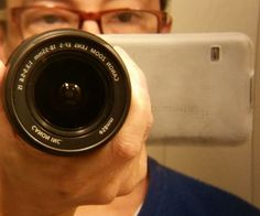 Attach Zoom Lens to a Smartphone - for short depth of field, i.e. background blurred.