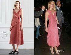 victoria Beckham Pink dress claire danes