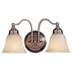 Feiss Bristol 2-Light Pewter Vanity Light