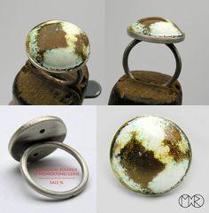 Silberschmuck - Silber Ring mit Emaille Nr.12 von MartaRudnicka auf DaWanda.com