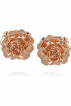 Rose Gold Floral Earrings..i love rose gold!!!!!