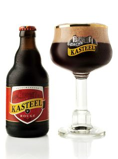 """Kasteel Rouge - """"Belgian Brown being mixed with moderate dose of cherry liquor. The result is a beer with nice Kriek characteristics - winey, malty and musty. Cherry's taste is a good balance of sweetness, sourness and hoppiness. Tasting this is like having a nice comfy trip. High-end and convincing."""""""